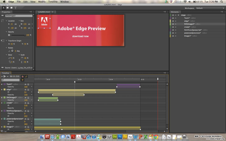 Adobe发布HTML5网页动画工具Adobe Edge