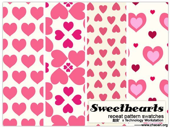 Sweetheart Pattern Repeats