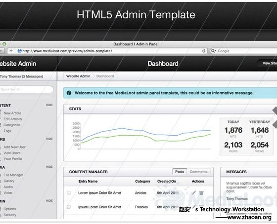 HTML5 Admin Template
