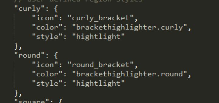 sublime中BracketHighlighter插件高亮设置方法